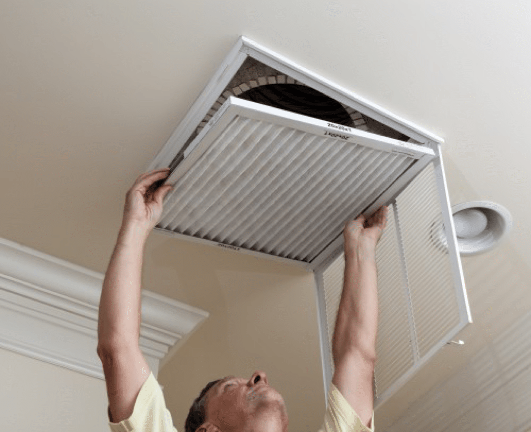 replacing ceiling vent filter