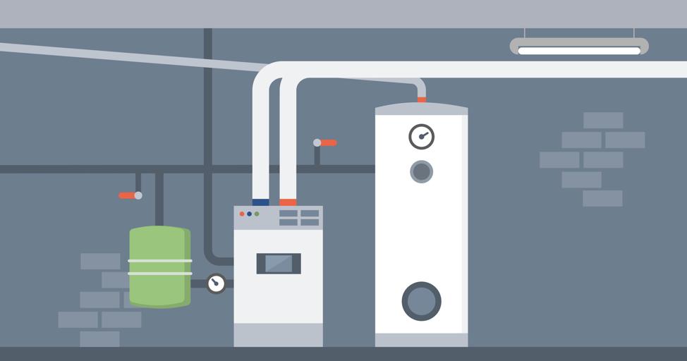 boiler room furnace heating